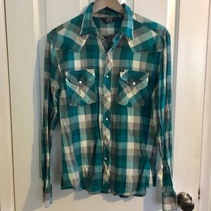 Urban Outfitters Western Pearl Snap Button Shirt